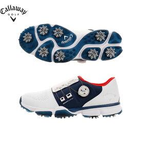 キャロウェイ ゴルフ ハイパーシェブ ボア 0983500-033 ゴルフシューズ ホワイト×ネイビー CALLAWAY HYPERCHEV BOA【キャロウェイ】【ゴルフシューズ】