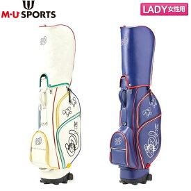 【レディース】 M・Uスポーツ ゴルフ 703P6106 カート キャディバッグ MU SPORTS ゴルフバッグ エムユー【M・Uスポーツ】【キャディバッグ】