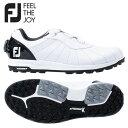 フットジョイ トレッド ボア 56213 ゴルフシューズ ホワイト×ブラック FOOTJOY Boa【フットジョイ】【ゴルフシューズ】