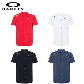 [土日祝も出荷可能]【送料無料/クリアランス】 オークリー ゴルフ FOA400785 スカル 半袖 WOVEN シャツ OAKLEY Skull Refinement WV Shirts【あす楽対応】