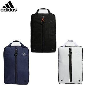 アディダス ゴルフ FM4229 シューズケース ブラック×ホワイト,カレッジネイビー×ホワイト,ホワイト×ブラック adidas シューズバッグ