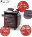 アウトレットプライス!【送料無料】引出5段!ソファサイドワゴン KP-955 Bランク