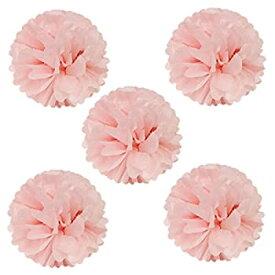 【中古】【輸入品・未使用未開封】(Light Pink) - Wrapables Tissue Pom Poms Party Decorations for Weddings Birthday Parties and Baby Showers 20cm Light Pink Set of 5