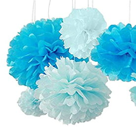 【中古】【輸入品・未使用未開封】Pom Poms -12Pcs of 10 12 14 Multi-Colors Tissue Paper Flowers Pom Poms Wedding Decor Party Decor Pom Pom Flowers Pom Poms Craft Pom Pom