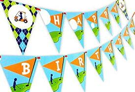 【中古】【輸入品・未使用未開封】Golf Party Happy Birthday Banner Pennant by POP parties