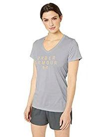 【中古】【輸入品・未使用未開封】Under Armour レディース テック半袖グラフィックTシャツ XX-Large グレイ