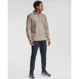 【中古】【輸入品・未使用未開封】Under Armour メンズ アーマー フリース 1/2 ジップ Tシャツ M ブラウン