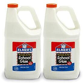 【中古】【輸入品・未使用未開封】Elmer's 学校用液体接着剤 洗濯可能 1ガロン 2個 スライム作りに最適
