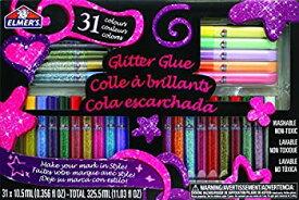 【中古】【輸入品・未使用未開封】Elmer's 3D Washable Glitter Pens Flat Box 31 Rainbow and Glitter Colors (E198) by Elmer's