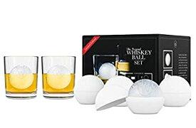 【中古】【輸入品・未使用未開封】The Original Whiskey Ball Quartet Gift Set (includes 4 round ice molds 2 Libbey rock glasses) by The Whiskey Ball