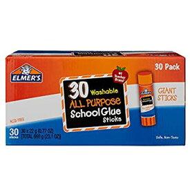 【中古】【輸入品・未使用未開封】(30-Count Giant Washable) - Elmer's Washable All Purpose School Glue Sticks Clear 30/Box