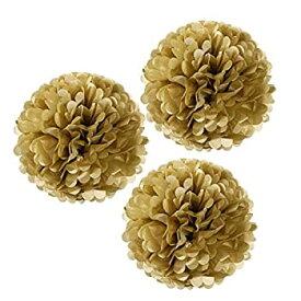 【中古】【輸入品・未使用未開封】(Gold Metallic) - Wrapables Tissue Pom Poms Party Decorations for Weddings Birthday Parties and Baby Showers 30cm Gold Metallic Set of