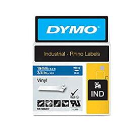 【中古】【輸入品・未使用未開封】Dymo Rhino Vinyl Tape 19 mm White on Blue