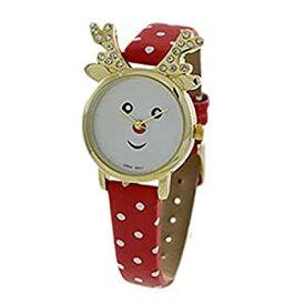 【中古】【輸入品・未使用未開封】ローズマリー・コレクションレディースクリスマスHoliday Red Nose Reindeer手首腕時計