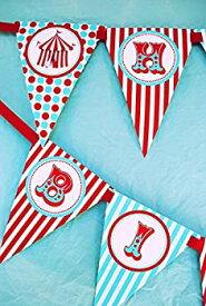 【中古】【輸入品・未使用未開封】Circus Carnival Happy Birthday Banner Pennant by POP parties
