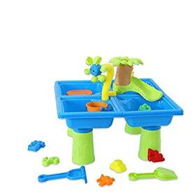 【中古】【輸入品・未使用未開封】Agelloc 24pcs Sand and Water Table Sand Water Play Table Kids Outdoor Beach Garden Sandpit Toys Set Sandbox Toys for Toddlers Education
