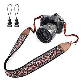 【中古】【輸入品・未使用未開封】LIFEMATE Camera Strap Shoulder Neck Belt for All SLR/DSLR (Red Vintage Patterns) [並行輸入品]