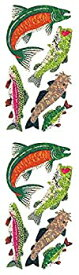 【中古】【輸入品・未使用未開封】Jillson Roberts Prismatic Stickers Salmon Trout Bass and Catfish 12-Sheet Count (S7124) [並行輸入品]