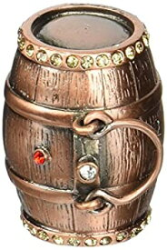 【中古】【輸入品・未使用未開封】Objet D'Art Release #386 'Aged In Oak' Wine & Whiskey Cask Handmade Jeweled Metal & Enamel Trinket Box [並行輸入品]
