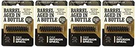 【中古】【輸入品・未使用未開封】4 Pack - Barrel Aged in a Bottle Oak Infusion Spiral - Barrel Age Whiskey Gin Rum Wine Beer by Oak Infusion Spiral
