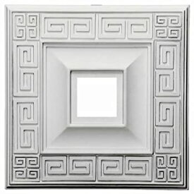【中古】【輸入品・未使用未開封】(Primed) - Ekena Millwork CM18ER 46cm x 46cm x 8.9cm ID x 2.9cm Eris Ceiling Medallion