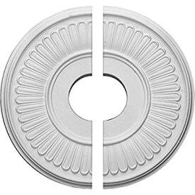 【中古】【輸入品・未使用未開封】(Split) - Ekena Millwork CM15BE2 40cm OD x 9.8cm ID x 1.9cm P Berkshire Ceiling Medallion Fits Canopies up to 18cm 2 Piece
