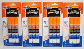 【中古】【輸入品・未使用未開封】Elmer's Washable School Glue Pens with Precision Tips 1 Teacher Brand (3-pens Per Pack) - 4 Packs