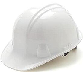 【中古】【輸入品・未使用未開封】(White) - Pyramex Cap Style 4 Point Snap Lock Suspension Hard Hat
