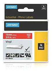 【中古】【輸入品・未使用未開封】Dymo Rhino Vinyl Tape 19 mm White on Red