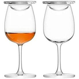【中古】【輸入品・未使用未開封】LSA(エルエスエー) グラス&カバー クリア 110ml WHISKY(ウィスキー) G1214-04-301 2個セット