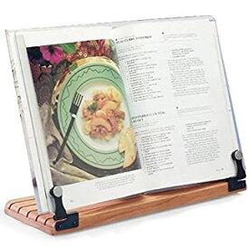 【中古】【輸入品・未使用未開封】Deluxe Large Cookbook Holder - Acrylic Shield With Cherry Wood Base - Made in the USA by Clear Solutions