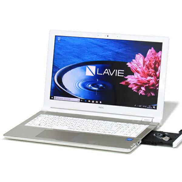 【中古】中古パソコン ノートパソコン 本体 NEC LAVIE NS150/H PC-NS150HAG 第6世代 Celeron 3865U 1.8GHz 4GB 新品SSD 256GB Windows10 Office搭載 15インチ 無線LAN Bluetooth Webcam DVDマルチ