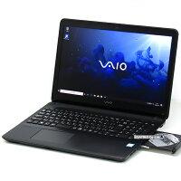 【中古】大容量新品SSD高精細フルHDSONYVAIOS15VJS151C11NCorei76700HQ4コア8スレッドメモリ8GB15インチBlu-rayWindows10LibreOffice無線LANWebカメラBluetooth中古パソコンノートパソコン本体黒ブラック