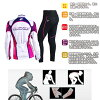 騎自行車的婦女夏天週期澤西單車服裝婦女騎車穿長袖衣服婦女女士
