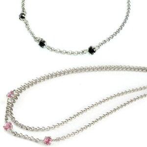 プラチナ ペアアンクレット ピンクトルマリン ブラックダイヤモンド スリーストーン チェーン レディース ダイヤ カップル 宝石 送料無料