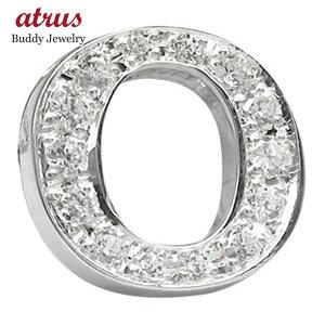 プラチナピンブローチ ダイヤモンド ラペルピン イニシャルブローチ O ダイヤ 0.20ct 人気ブローチ タックピン 送料無料