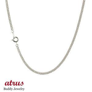 プラチナ ネックレス レディース 喜平 チェーン 45cm チェーンのみ 2面カット 2.3ミリ幅 鎖 pt850 キヘイ 地金ネックレス 送料無料 人気