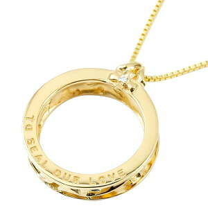 ネックレス メンズ ダイヤモンド イエローゴールドk10 リング ペンダント トップ 10金 輪っか リング キーリングアクセ キーリングデザイン の 送料無料 人気