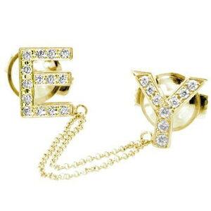メンズジュエリー ダイヤモンド ピンブローチ ラペルピン イニシャルブローチ E Y イエローゴールドk18 タイタック タイピン タックピン ダイヤ 18金 の 送料無料 スタッドボタン