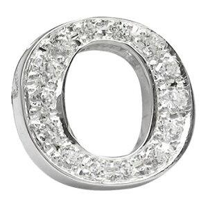 メンズ ダイヤモンド ピンブローチ ラペルピン イニシャルブローチ O ダイヤ 0.20ct ホワイトゴールドK18 人気ブローチ タイタック タイピン タックピン 18金 の 送料無料 スタッドボタン