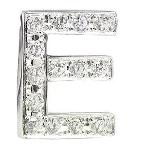 メンズ ピンブローチ ラペルピン ダイヤモンド プラチナ イニシャル E タイタック タイピン タックピン ダイヤ 送料無料 スタッドボタン