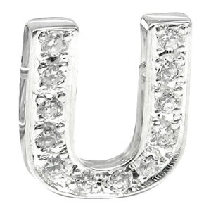 メンズ プラチナピンブローチ ダイヤモンド ラペルピン イニシャルブローチ U ダイヤ 0.15ct 人気ブローチ タイタック タイピン タックピン 送料無料 スタッドボタン