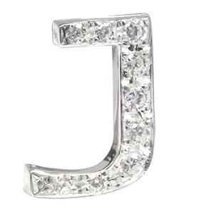 メンズ ダイヤモンド ピンブローチ ラペルピン イニシャルブローチ J ダイヤ 0.10ct ホワイトゴールドK18 人気ブローチ タイタック タイピン タックピン 18金 の 送料無料 スタッドボタン