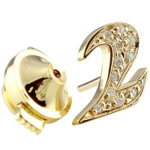 メンズ ピンブローチ ラペルピン ダイヤモンド 数字 ナンバー ゴールドk18 タイタック タイピン タックピン ダイヤ 18金 男性用 送料無料 スタッドボタン