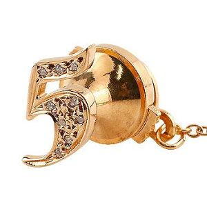 メンズ タイタック タイピン ダイヤモンド 数字 ナンバー 5 ピンクゴールドk18 ピンブローチ ラペルピンタックピン ダイヤ 18金 男性用 送料無料 スタッドボタン