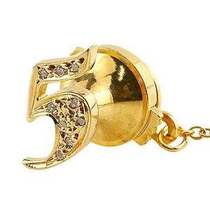 メンズ タイタック タイピン ダイヤモンド 数字 ナンバー 5 イエローゴールドk18 18金 ピンブローチ ラペルピンタックピン ダイヤ 男性用 送料無料 スタッドボタン