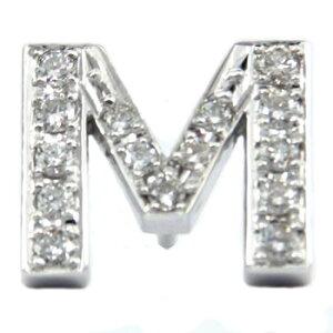 メンズ ピンブローチ ラペルピン ダイヤモンド イニシャル プラチナ M タイタック タイピン タックピン ダイヤ 送料無料 スタッドボタン