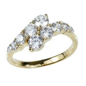 婚約 指輪 エンゲージリング ダイヤモンド ダイヤ イエローゴールドk18 18金 ダイヤモンド ダイヤリングストレート プレゼント 女性 送料無料 人気