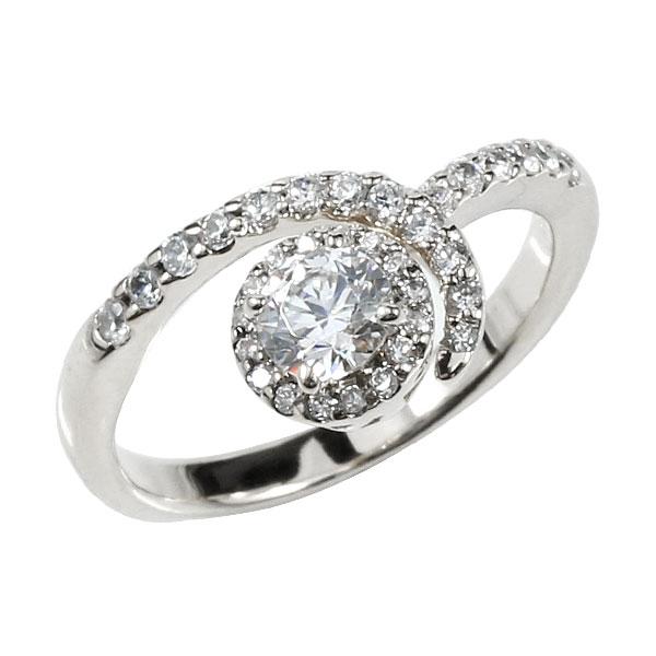 鑑定書付 婚約指輪 エンゲージリング ダイヤモンド 取り巻き ホワイトゴールドk18 ダイヤ 18金 ストレート レディース ブライダルジュエリー ウエディング 贈り物 誕生日プレゼント ギフト ファッション お返し