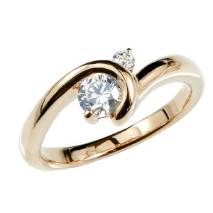 鑑定書付き 婚約 指輪 エンゲージ ダイヤモンド ダイヤ リング 指輪 大粒 ピンクゴールドk18 一粒 18金 ストレート 送料無料 人気